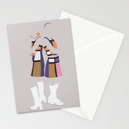 MK&A Our Lips Are Sealed (grey) Stationery Cards