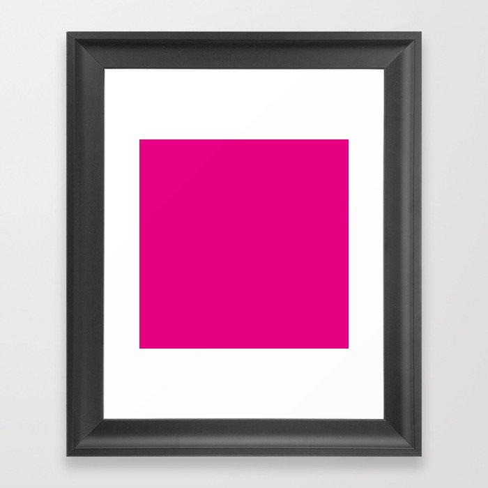Fuchsia Pink Gerahmter Kunstdruck