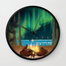 Reykjavik Iceland travel poster Wall Clock