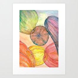 Oniric pumpkins Art Print