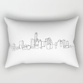 Austin Skyline Drawing Rectangular Pillow