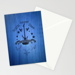 Rock Never Dies - For Music Fans Stationery Cards