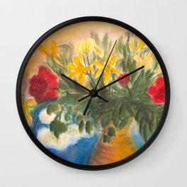 Great Flower Bouquet Wall Clock