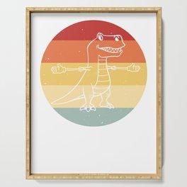 Dinosaur Dino T-Rex Sweet Vintage Retro Serving Tray