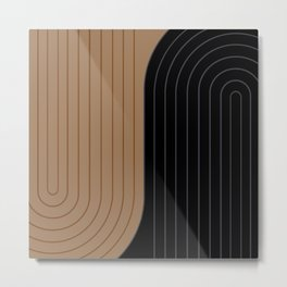 Two Tone Line Curvature XXXVI Metal Print