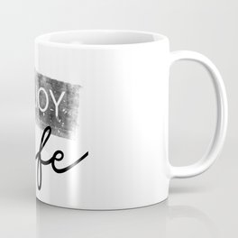 Text Art ENJOY LIFE Coffee Mug