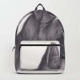 German Shepard Dog - Wildlife Animal Graphite Pencil drawing Artwork Pet Backpack