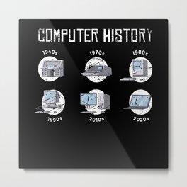Computer History Computer Scientist Hacker It Metal Print