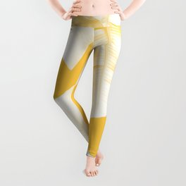 Tropical Yellow Banana Leaves Vibes #1 #decor #art #society6 Leggings