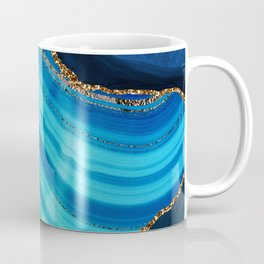 Marble Blue Mermaid Landscape Coffee Mug
