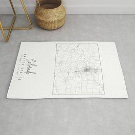 Colorado Minimal Street Map Rug