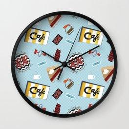Twin Peaks RR Diner Toss Wall Clock