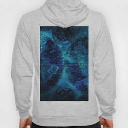 Antique World Star Map in Space Navy Blue Hoody