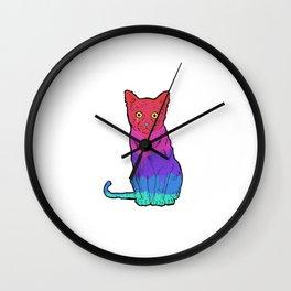 Graffiti Sad Kitty  Wall Clock