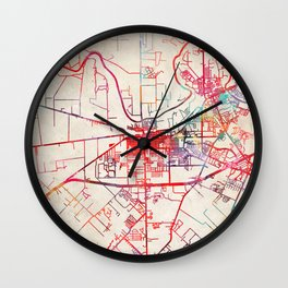 Rosenberg map Texas TX Wall Clock