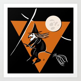 Witch - Halloween Collection Art Print