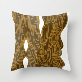 Parallel Lines No.: 03. - Brown, Symmetrical Throw Pillow