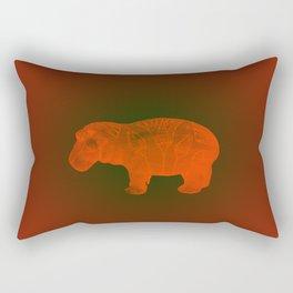 WILLIAM THE HIPPO III Rectangular Pillow