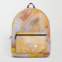 Modern Blush and gold Agate Backpack