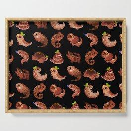 Chocolate Reptiles - dark Serving Tray