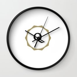 Vintage Letter Q Monogram Wall Clock