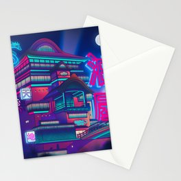 Neon Bath House Stationery Cards