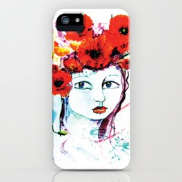 The Lady Poppy iPhone Case