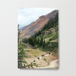 Red Mountain Pass Convoy Metal Print