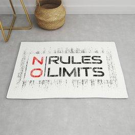 No Rules No Limits Rug