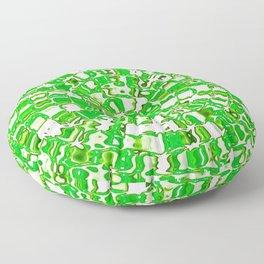 Circular Mosaic Green Floor Pillow