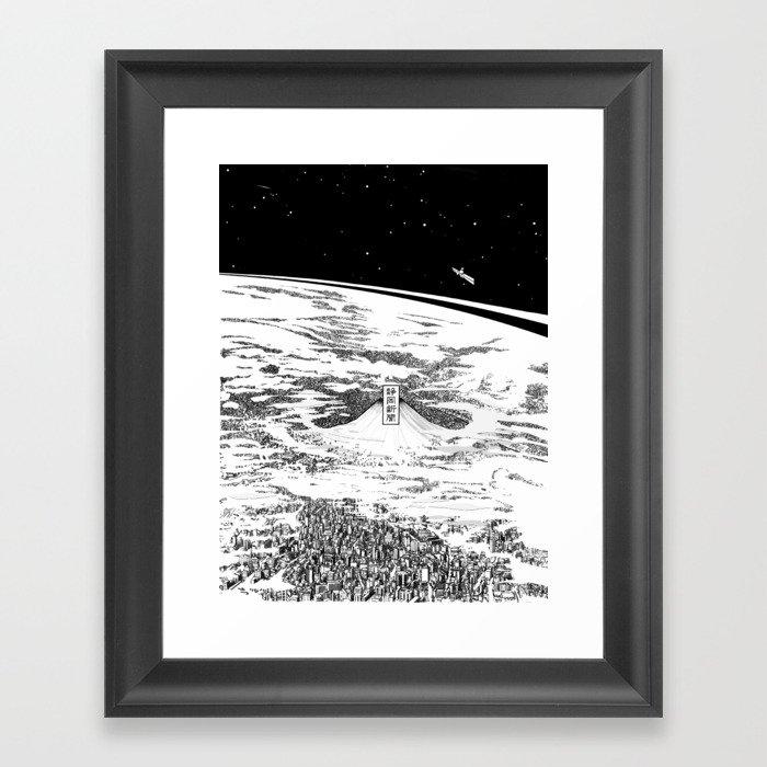 Space upon us Gerahmter Kunstdruck