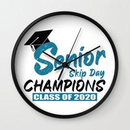 Senior 2020 Quarantine Gift Senior Skip Day Champions Class of 2020 Graduation  Wall Clock