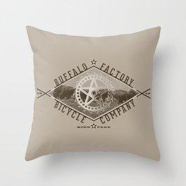BUFFALO FACTORY Bicycle Company  Throw Pillow