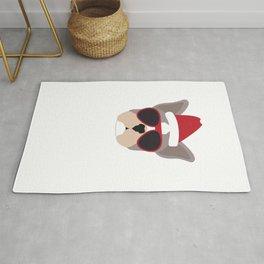 Sleigh All Day French Bulldog Funny Christmas Rug