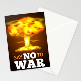 Say NO to WAR Stationery Cards