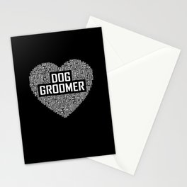 Dog Groomer - Heart Stationery Cards