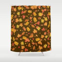 Autumn Leaves (Brown) Shower Curtain