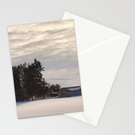 Winter Farm at Golden Hour - Palouse, Washington State  Stationery Cards