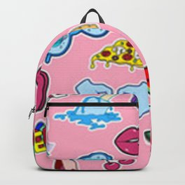 Pink Graffiti Collage Backpack