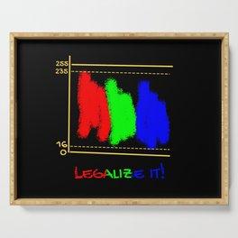 Legalize it! Post Production Film TV Colorist Serving Tray