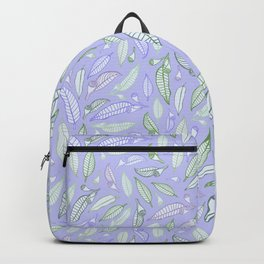 Gum nuts Pattern - Purple and Green Backpack