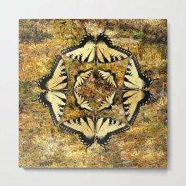 Butterfly Octagon Metal Print