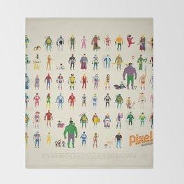 Pixel Nostalgia Throw Blanket