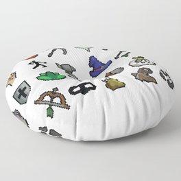 Old School Runescape Skills Floor Pillow