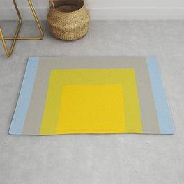 Block Colors - Yellow Green Grey Blue Rug