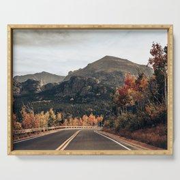Fall Road in Colorado Serving Tray