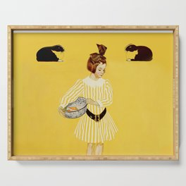 """C Coles Phillips 'Fadeaway Girl' """"A Friend of the Family"""" Serving Tray"""