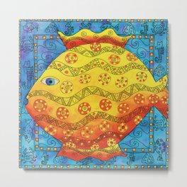 Patterned Fish Metal Print