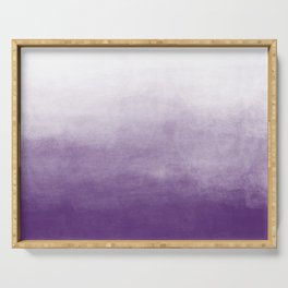 Ombre Paint Color Wash (purple/white) Serving Tray