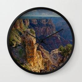 Pillars of rock at Grand Canyon Zuni Point Wall Clock
